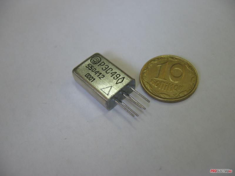 Реле электромагнитное герметичное типа РЭС49 РСО.453.011 ТУ