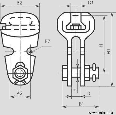 Ушки предназначены для соединения стержня подвесного изолятора или серьги с другой линейной арматурой.