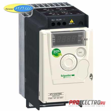 ATV12H018M2  ПРЕОБР ЧАСТОТЫ ATV12 0.18КВТ 240В 1Ф  Schneider Electric
