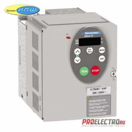 ATV212HU75N4  ПРЕОБР ЧАСТОТЫ ATV212 7,5КВТ 480В IP21  Schneider Electric
