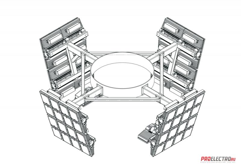 Установка осветительная Диора Корона ВОУ-30 (4 луча)
