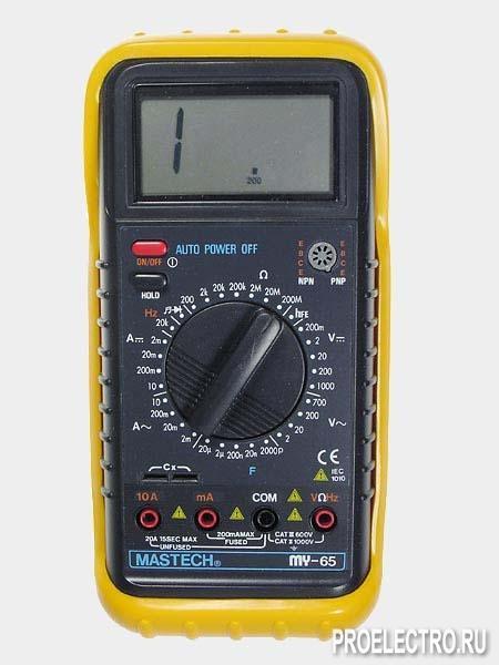 Средне.  С помощью мультиметра MY65 можно проверятьполупроводниковые диоды и прозванивать электрические цепи.