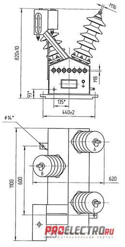 НАМИ-35 трансформатор напряжения измерительный масляный антирезонансный.
