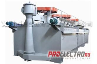 Эрлифтная флотационная машина в поперечном сечении
