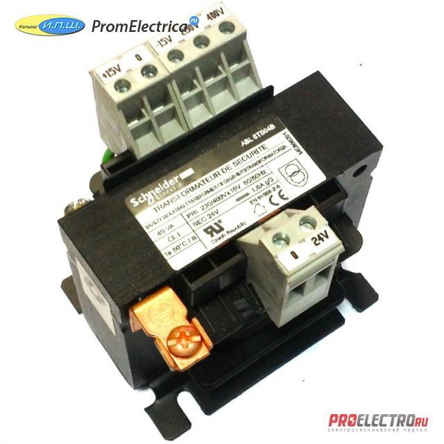 ABL6TS06B ТРАНСФОРМАТОР 230-400В 1X24В 63ВA <strong>Schneider Electric</strong>