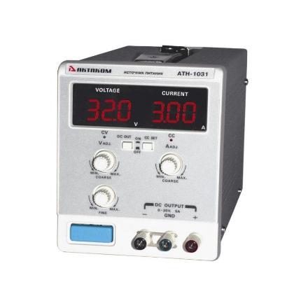 Блок питания АТН-1031 0.01-5А, 0.1-30V, АКТАКОМ