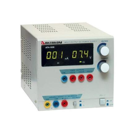 Блок питания АТН-1035 0-12V, 0...500 мА, 3 фикс. канала +5В/1А, ±15В/1А, АКТАКОМ