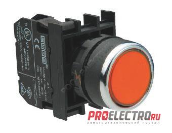 Кнопка нажимная красная B100DK 22мм 4А 1з без фиксации <strong>EMAS</strong>