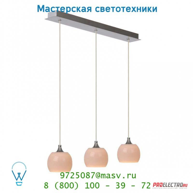 Lucide BLICX Hangel. 3x12V/35W Weiss Mattes Glas подвесной светильник 12401/23/31