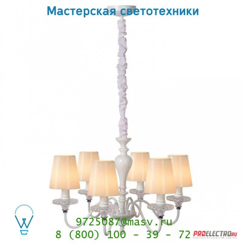 13320/06/31 Lucide ELIDE Krone 6xE14 D50cm Opal Glas/Weiss подвесной светильник