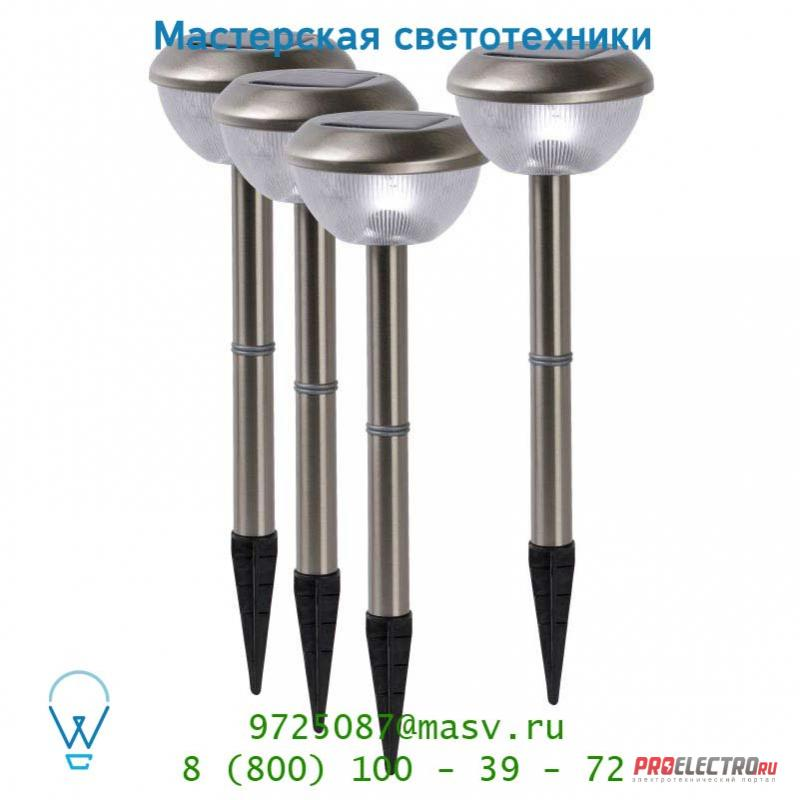 Lucide SOLAR Set/4 LED weiss Mattes Chrome уличный светильник 14872/04/12