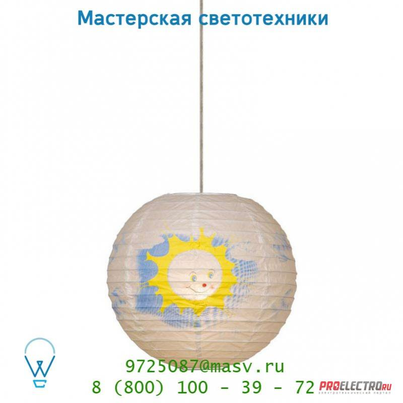 Подвесной светильник Lucide Paper-Ball Sonne D30cm E27 Weiss 14477/30/31