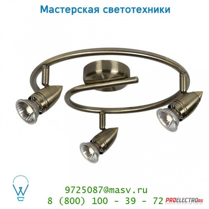 13955/33/03 спот Lucide CARO-BIS Spot <strong>BOGE</strong> 3xGU10/50W Bronze