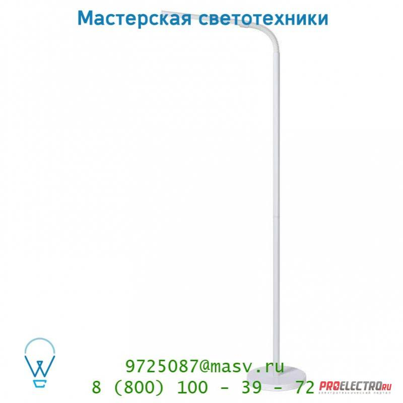 18702/05/31 Lucide GILLY Stehl. LED 5W H153 D20cm 4000K Weiss торшер
