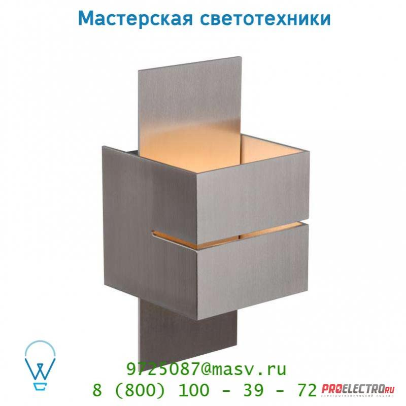 Настенный светильник Lucide CUBO Wandl. (Rille)1xG9/40W in /out Alu 23209/12/12