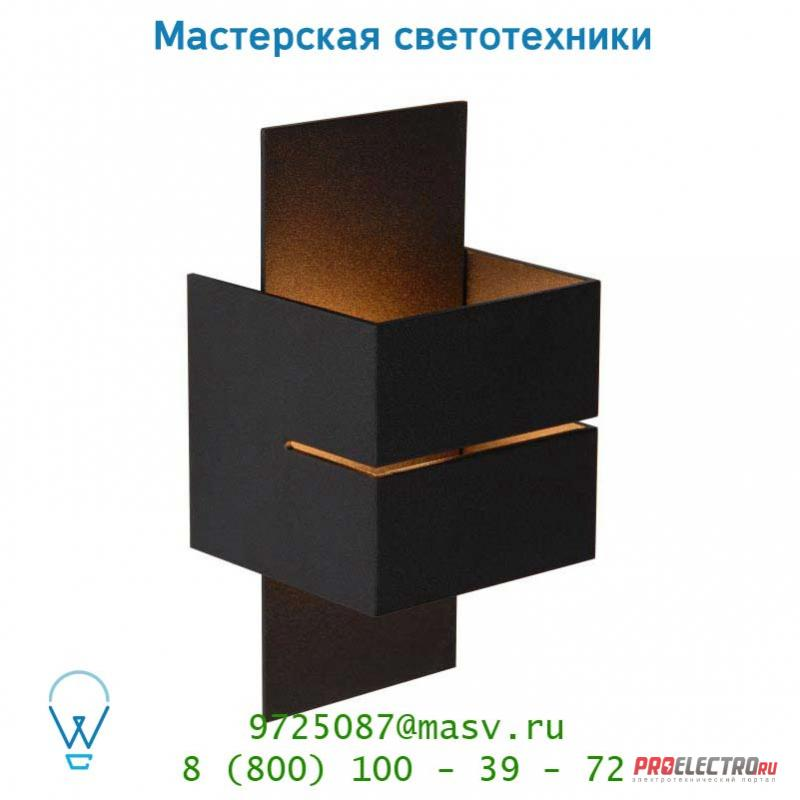 Настенный светильник 23209/10/30 Lucide CUBO Wandl. (Rille)1xG9/40W in Gold/out Schwarz