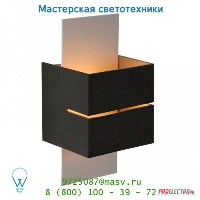 Lucide CUBO Wandl. (Rille)1xG9/40W in Silber/out Schwarz настенный светильник 23209/14/30