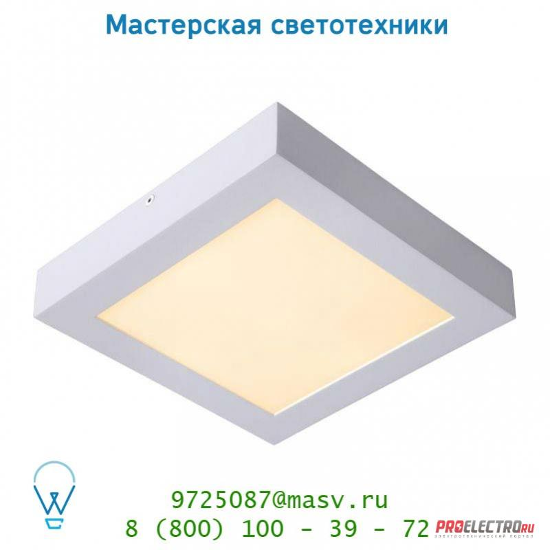 28107/22/31 потолочный светильник Lucide BRICE-LED Deckenl. Dimmabel 22W Viereckig IP40