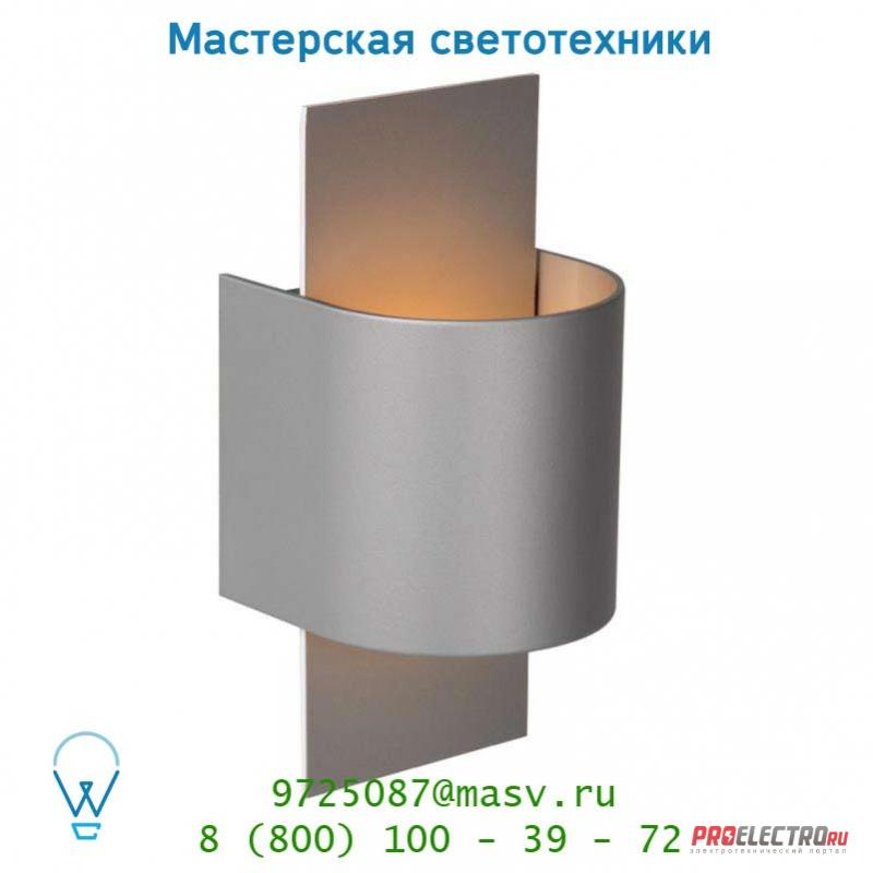 Настенный светильник Lucide CUBO Wandl. (Rund)1xG9/40W in Weiss/out Silber Gr 23210/31/36
