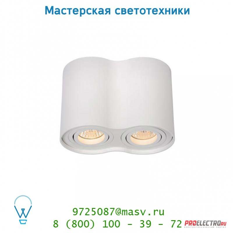 Lucide TUBE Spot 2xGU10excl Rund Weiss спот 22952/02/31