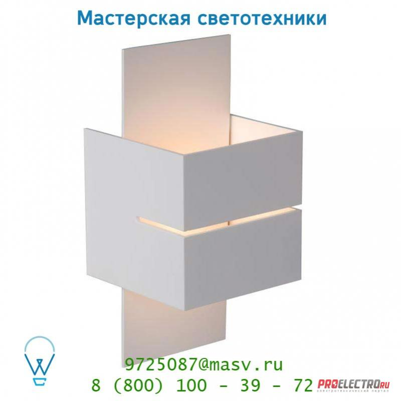 Lucide CUBO Wandl. (Rille)1xG9/40W in Weiss/out Weiss настенный светильник 23209/31/31
