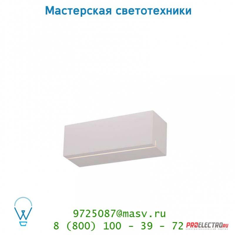 Lucide BLANKO Wandl. G9/40Wexcl L22cm H7,5cm Weiss настенный светильник 29204/01/31