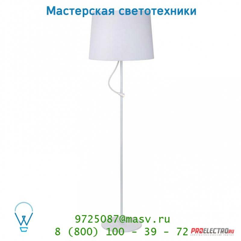 Lucide DOMUS Stehl. H170 E27&LED 3W Schirm 50cm Weiss 31767/02/31 торшер