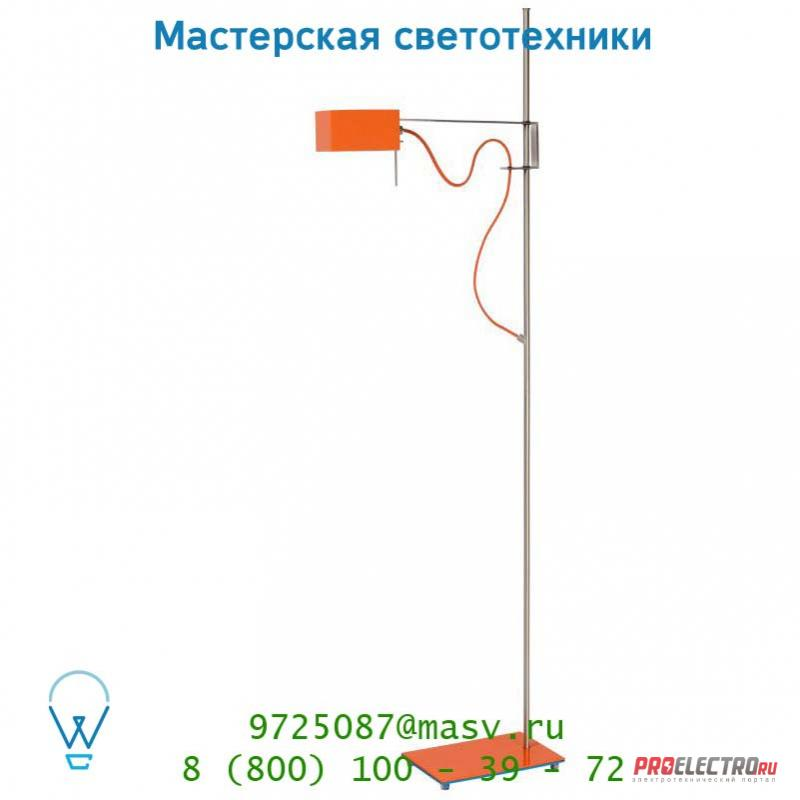 Lucide THE BOXZ Stehl. G9/28W H141cm Orange 31779/21/53 торшер