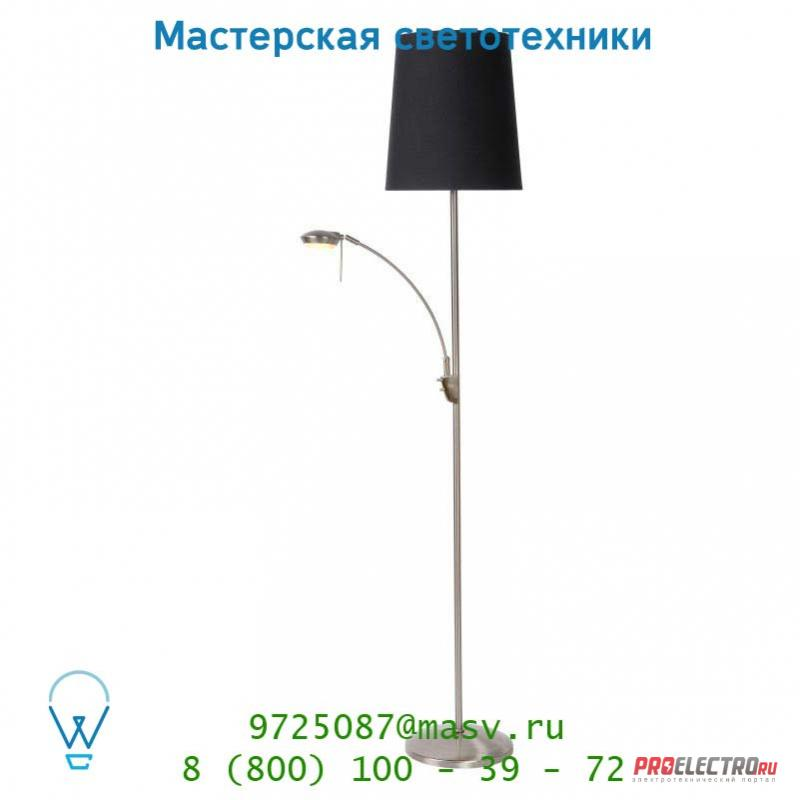 39705/03/30 торшер Lucide PEGGY Stehl. 2xE27 1xGX53 incl Mattes Chr/Schirm S