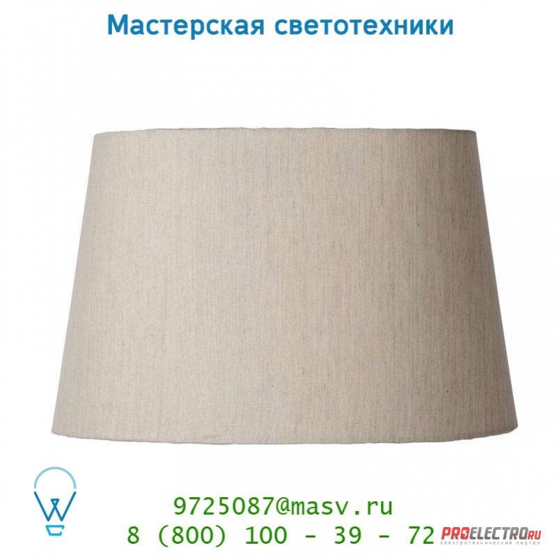 61020/37/38 Lucide Schirm Oval 30/37/236cm Linen Naturel абажур