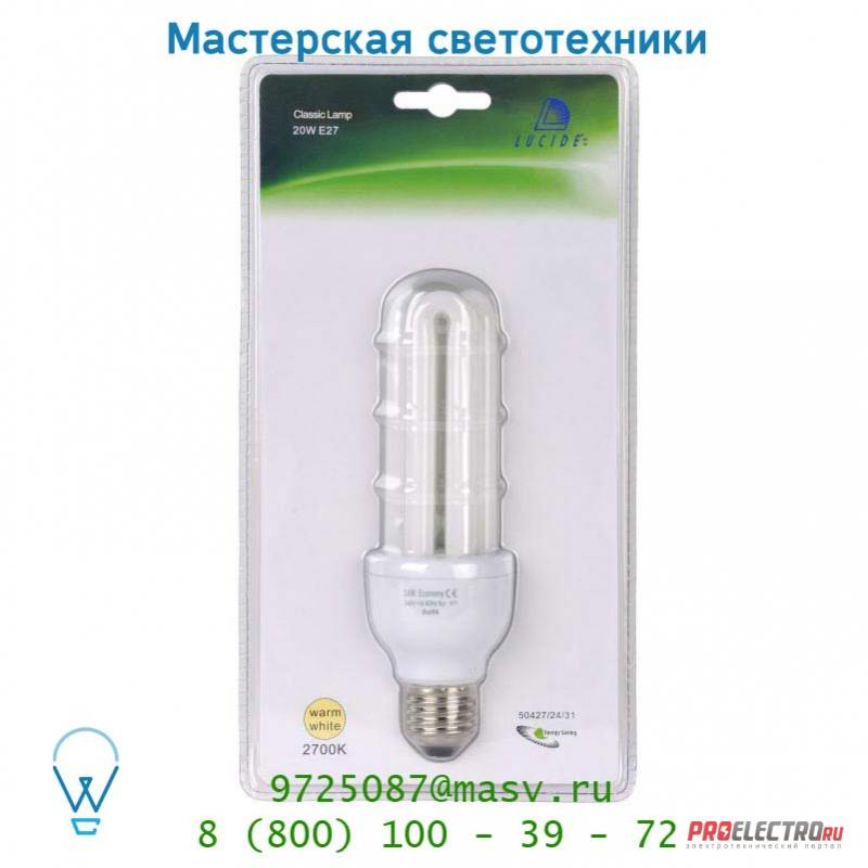 Лампа 50427/24/31 Lucide Energiesparlampe Blister Stick E27/24W