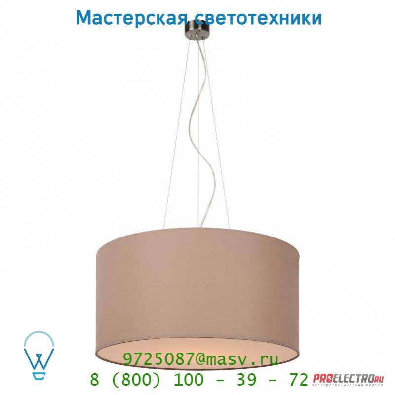 61452/40/41 Lucide CORAL Hangel. Baumwolle E27 D40/H20 Taupe подвесной светильник