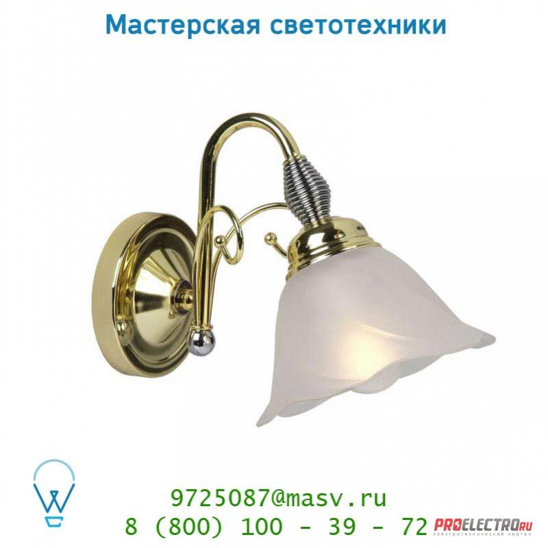 78202/01/01 Lucide ARABBA Wandl. 1x E14/40W Mattes Glass/Messing настенный светильник