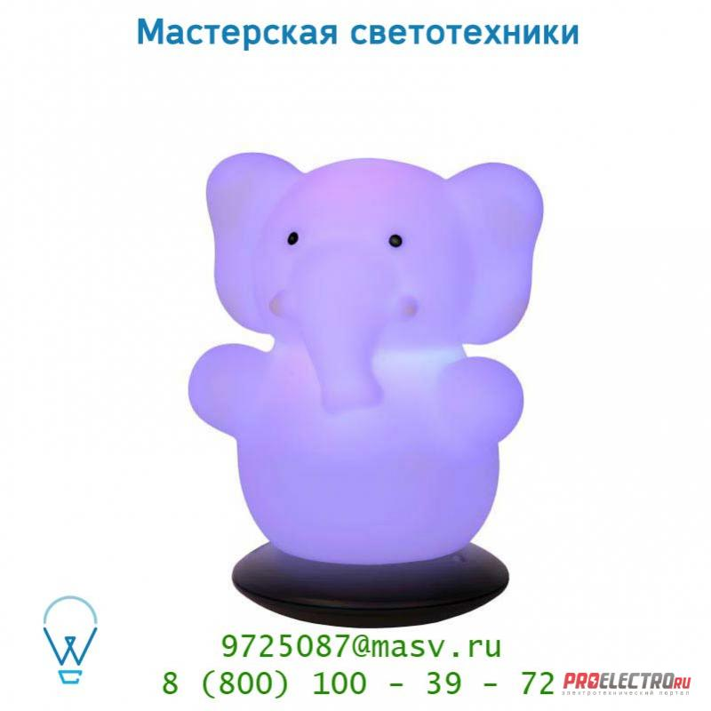 Lucide ELEPHANT LED Night Light RGB+Adaptor H15 Weiss 71530/21/31 настольная лампа