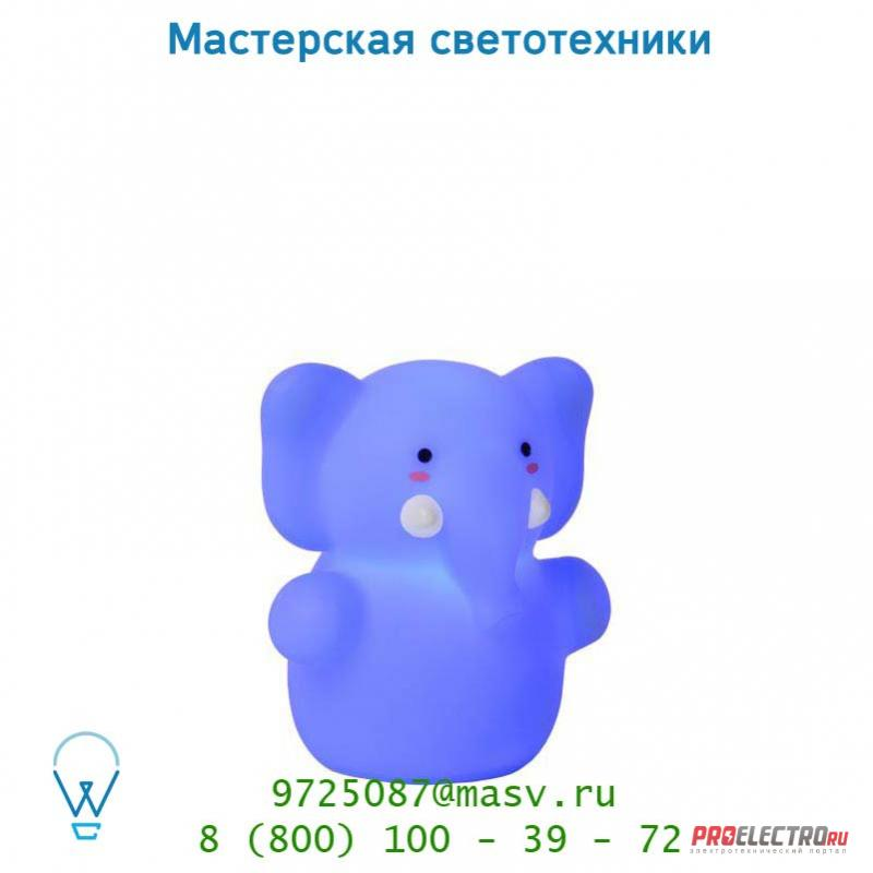 71551/21/35 настольная лампа Lucide COLOR ZOO Elefant H8cm Blau
