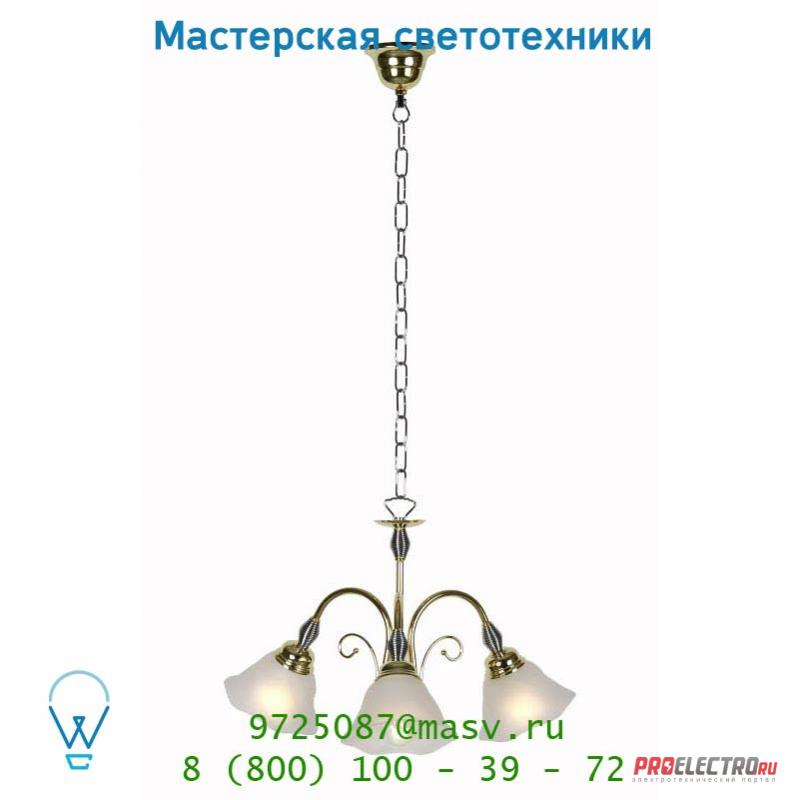 78302/03/01 подвесной светильник Lucide ARABBA Krone 3x E14/40W Mattes Glass/Messing