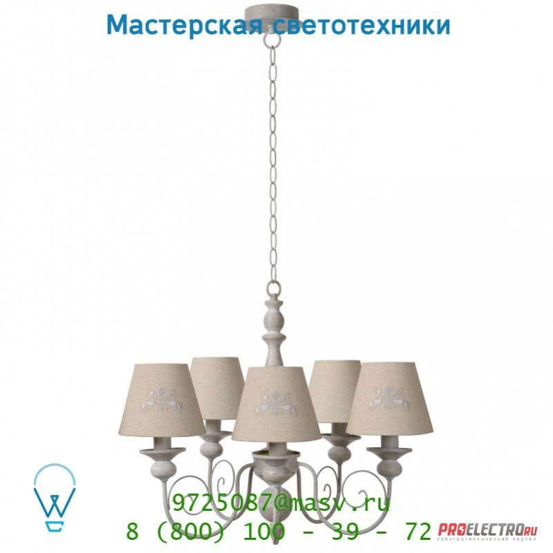 Lucide ROBIN Krone 5xE14 Ø48cm Taupe подвесной светильник 71336/05/41