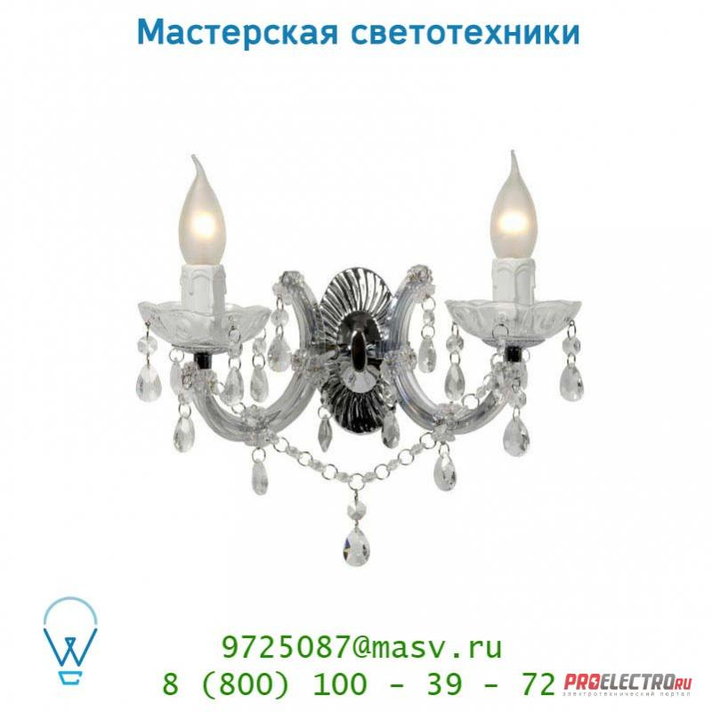 78250/02/60 настенный светильник Lucide THERESE Wandl. 2xE14/40W Glas