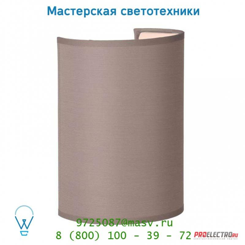 61250/14/41 Lucide CORAL Wandl. E14 Schirm Rund H20cm Taupe настенный светильник