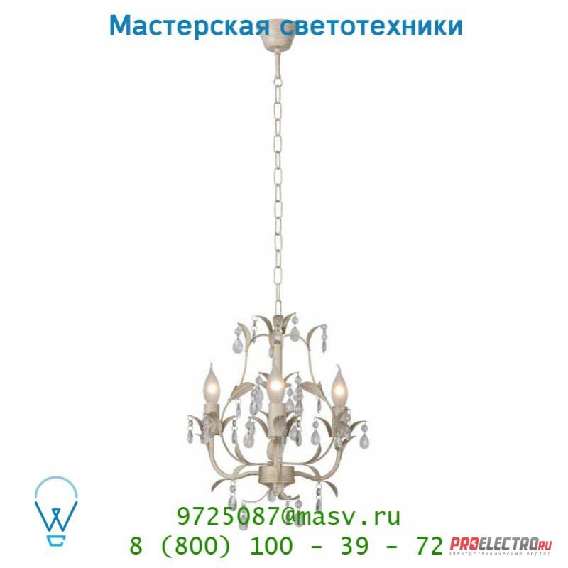 Lucide DROME Krone 3xE14 Tranp Glas/Ant Weiss 78355/03/21 подвесной светильник