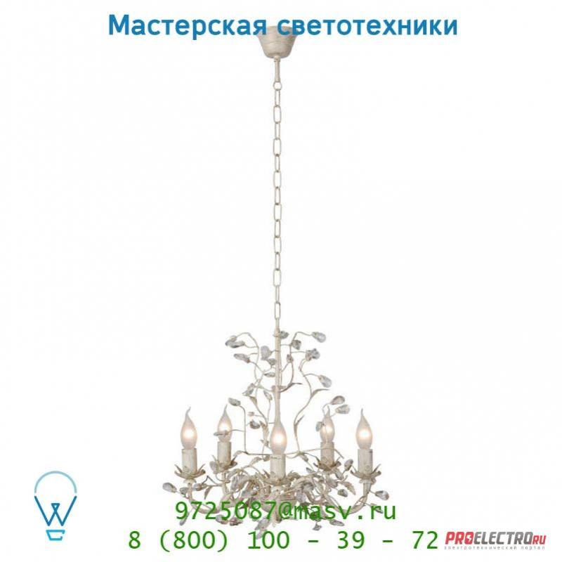 Подвесной светильник 78356/05/21 Lucide UTAH Krone 5xE14/40W Ant Weiss