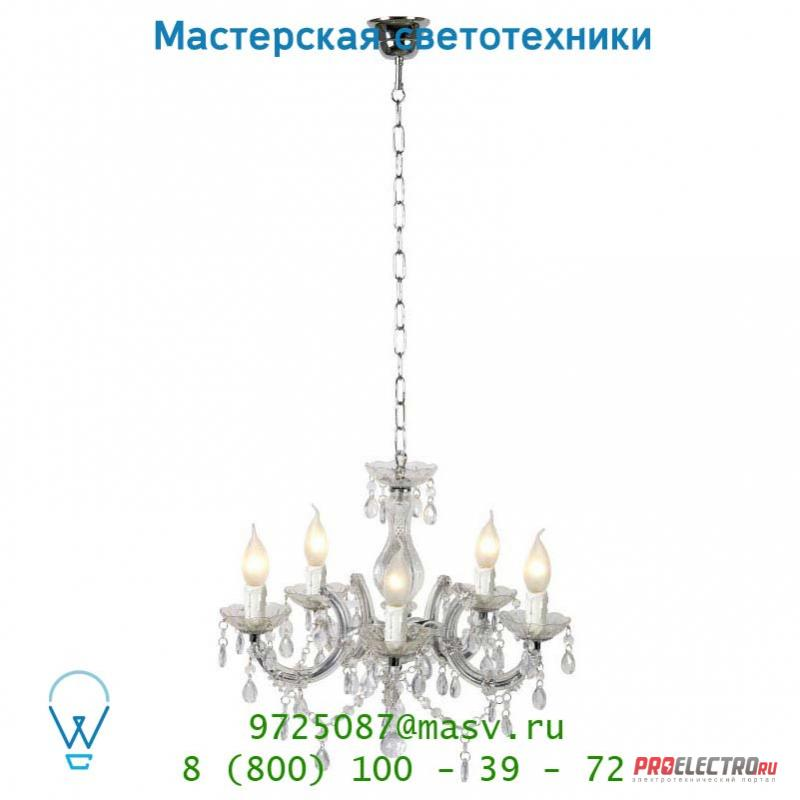 78351/05/60 Lucide ARABESQUE Krone 5xE14/40W Transparant подвесной светильник