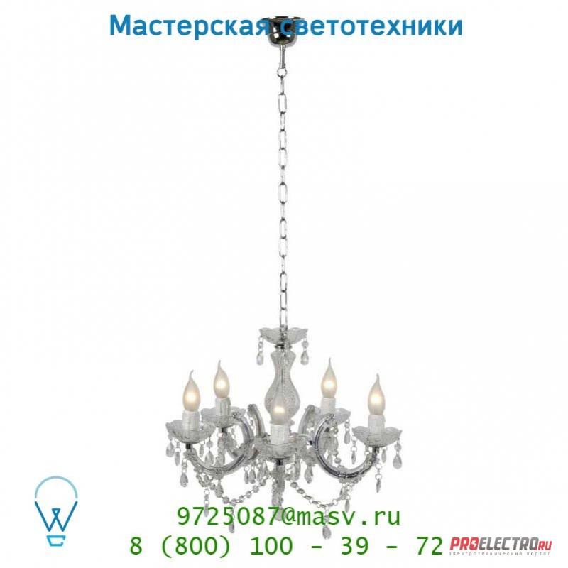 Подвесной светильник Lucide THERESE Krone 5xE14/40W Glas 78350/05/60