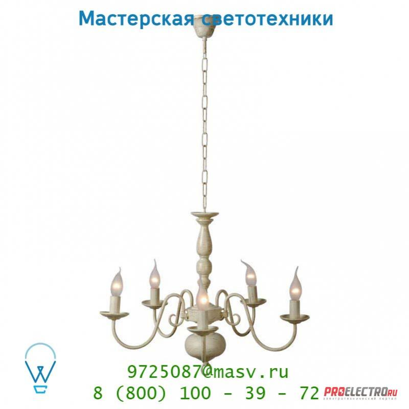 Подвесной светильник Lucide BARROCCO Krone 5xE14 Ø60 H110cm Ant Weiss 78362/05/21
