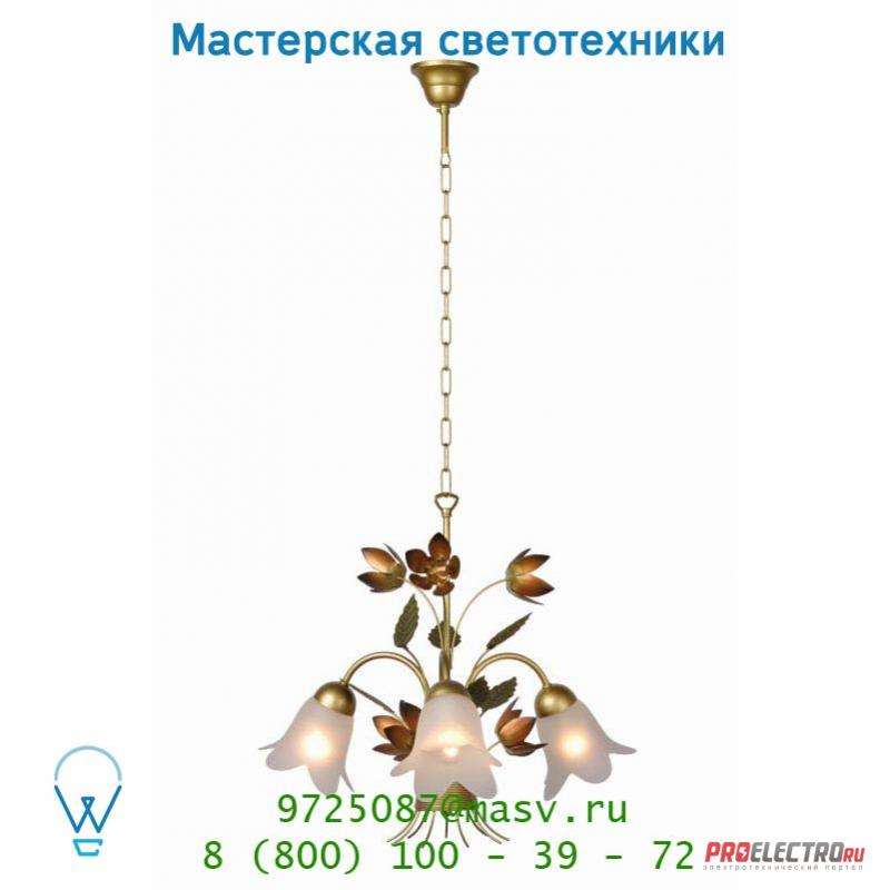 78306/03/05 Lucide PEONA Krone 3xE14 D55 H43cm Mattes Glass/Mattes G подвесной светильник