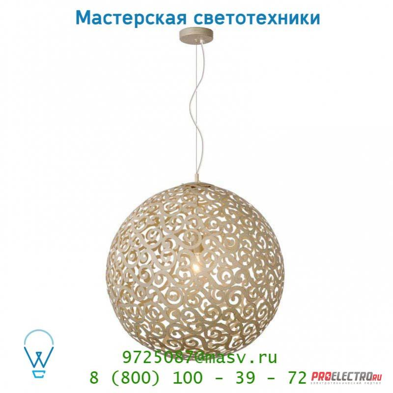 Lucide FEZ Krone 1xE27 Ø60cm Ant Weiss подвесной светильник 78361/60/21