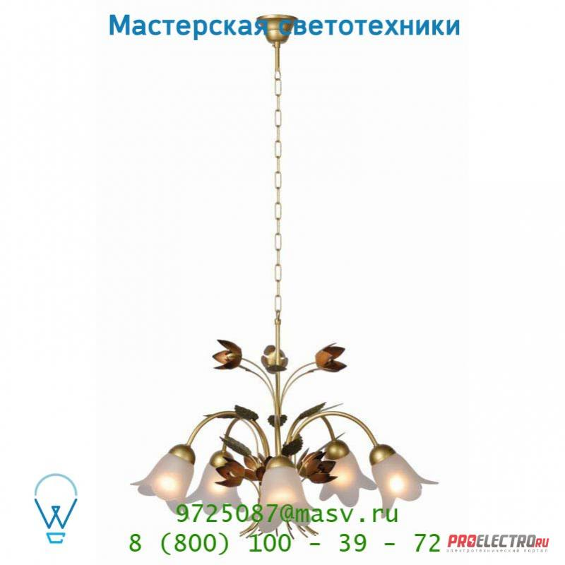 78306/05/05 Lucide PEONA Krone 5xE14 D70 H46cm Mattes Glass/Mattes G подвесной светильник