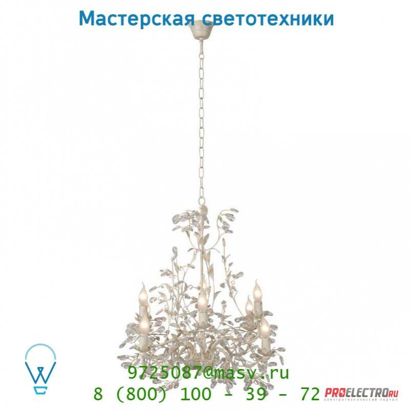 Подвесной светильник Lucide UTAH Krone 8xE14/40W Ant Weiss 78356/08/21