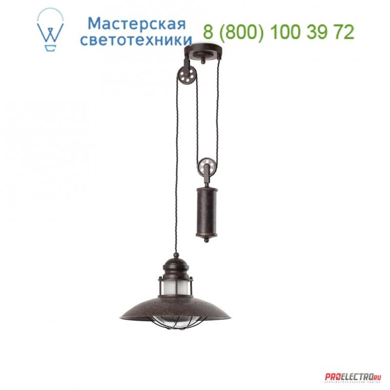 Faro 66205 WINCH Brown pendant lamp with scale, подвесной светильник