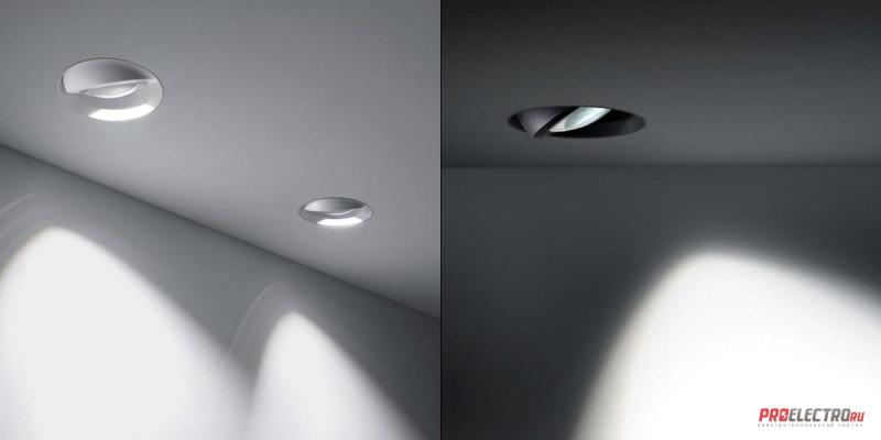 Wally W01 Dynamic Recessed Light светильник Oty Light, LED 13W